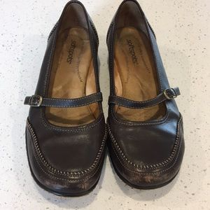 Softspots Brown Mary Jane Flats